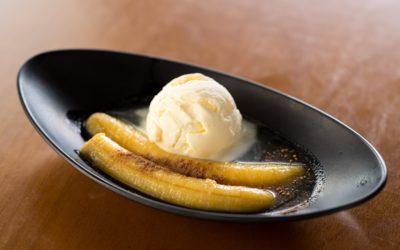 Banana flambada: um clássico do menu japonês